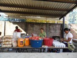Feeding festival attendees, La Magdalena, El Salvador.  Mission trip 2013