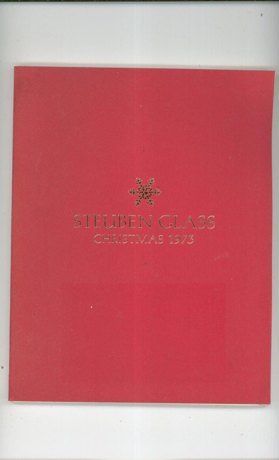 Steuben Glass Christmas 1973 Catalog With Price List Not PDF Only One Available In Store Now @