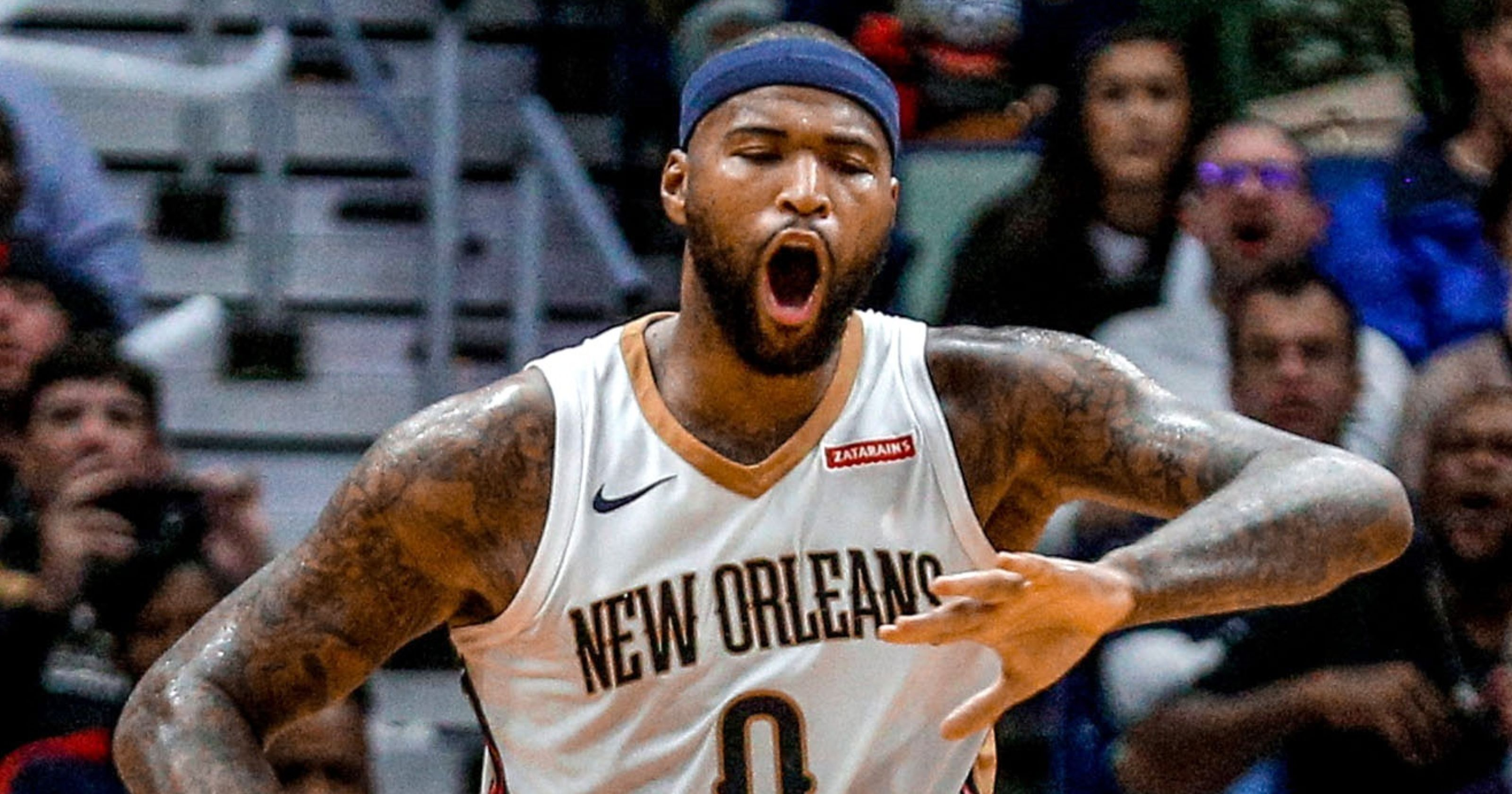 Demarcus Cousins Ejected As Pelicans Rally To Beat Thunder Pelican Thunder New Orleans Pelicans