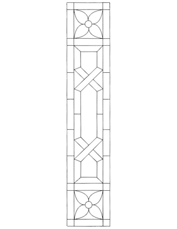 Stained Glass Pattern For Sidelight Stained Glass Ideas