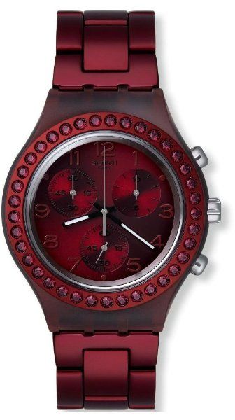 628f3f1272c Swatch Women s Irony SVCR1000AG Red Stainless-Steel Swiss Quartz Watch with  Red Dial