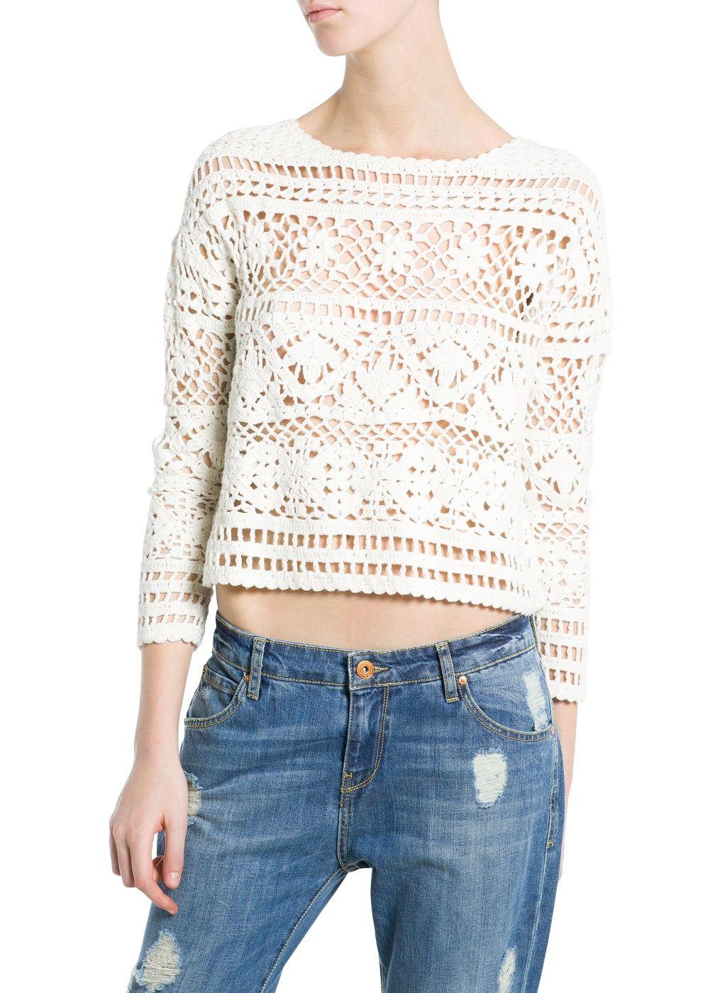 Crochet cortada camisola   crochet   Pinterest   Tejido, Blusas y ...