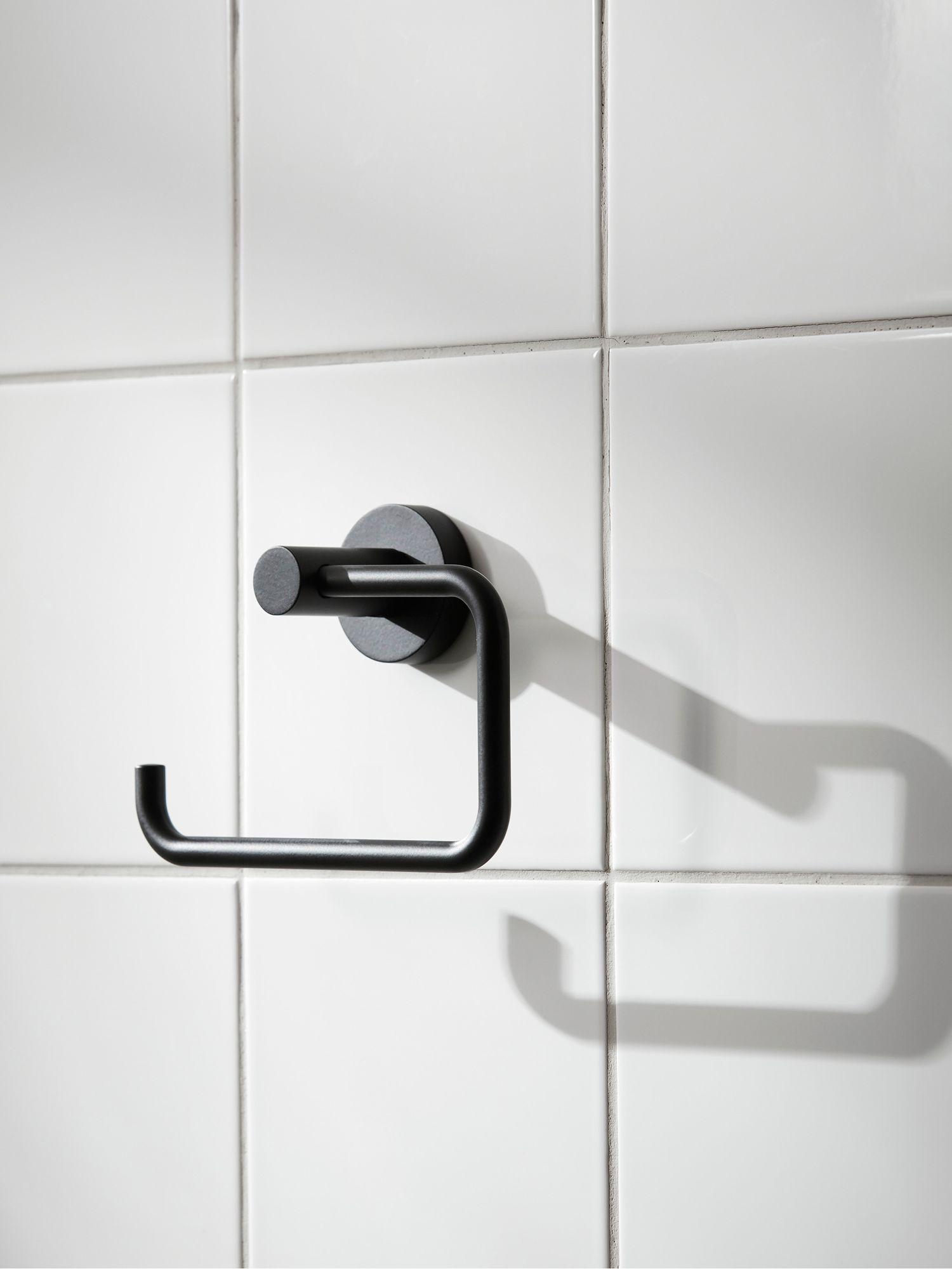 Miller Bond Toilet Roll Holder Black In 2020 Toilet Roll Holder Toilet Roll Toilet Roll Holder Black