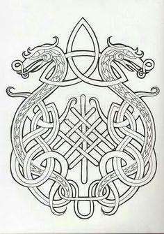 Entrelacs Arbre Dragon Celte Recherche Google Dragon Celtique Style Celtique