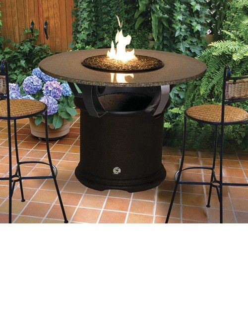 Bar height table with a fire pit entertainment bar pinterest bar height table with a fire pit watchthetrailerfo