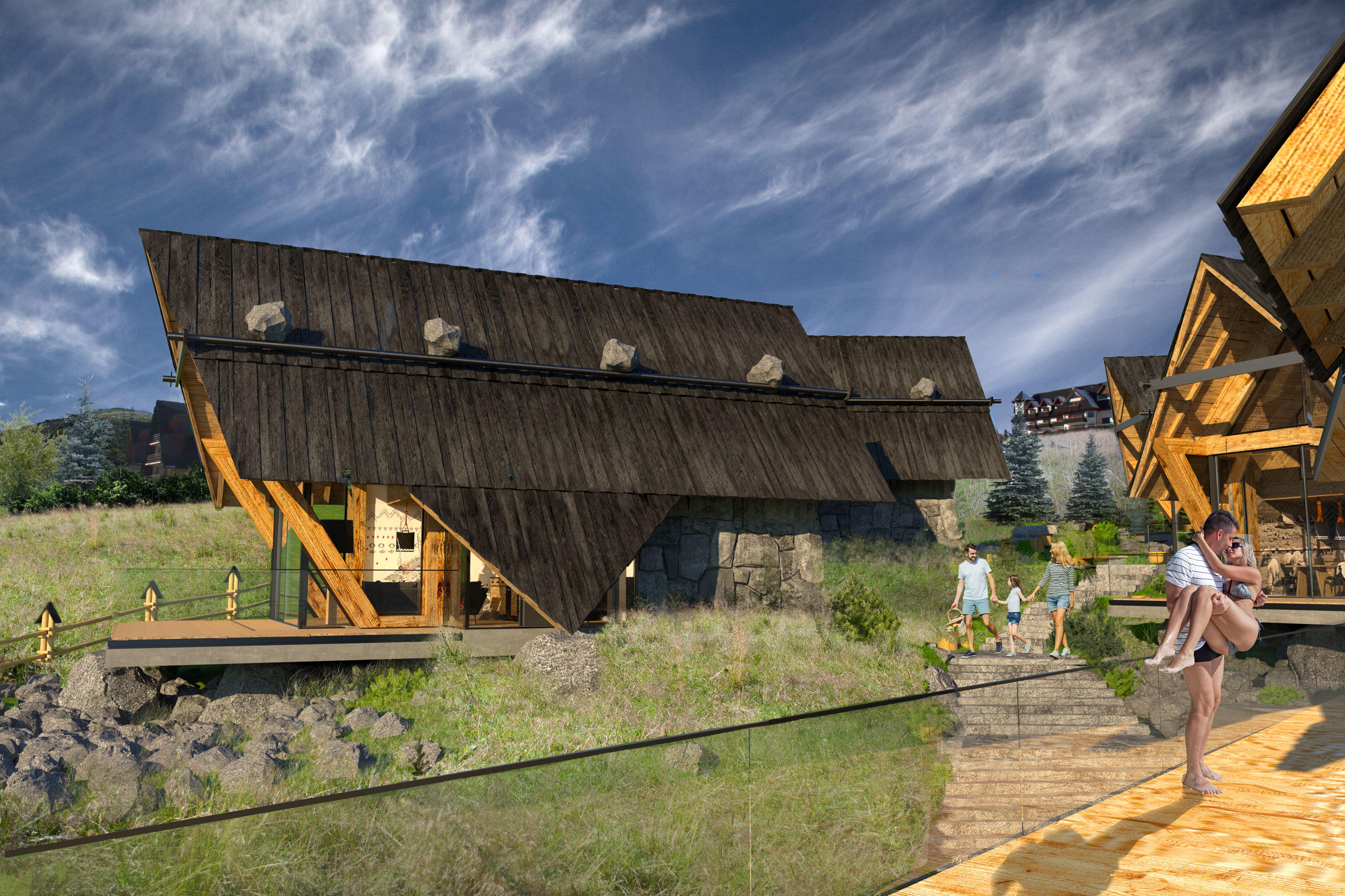 Osada Zakopane Biuro Architektoniczne Karpiel I Steindel Architektura House Styles Zakopane Cabin
