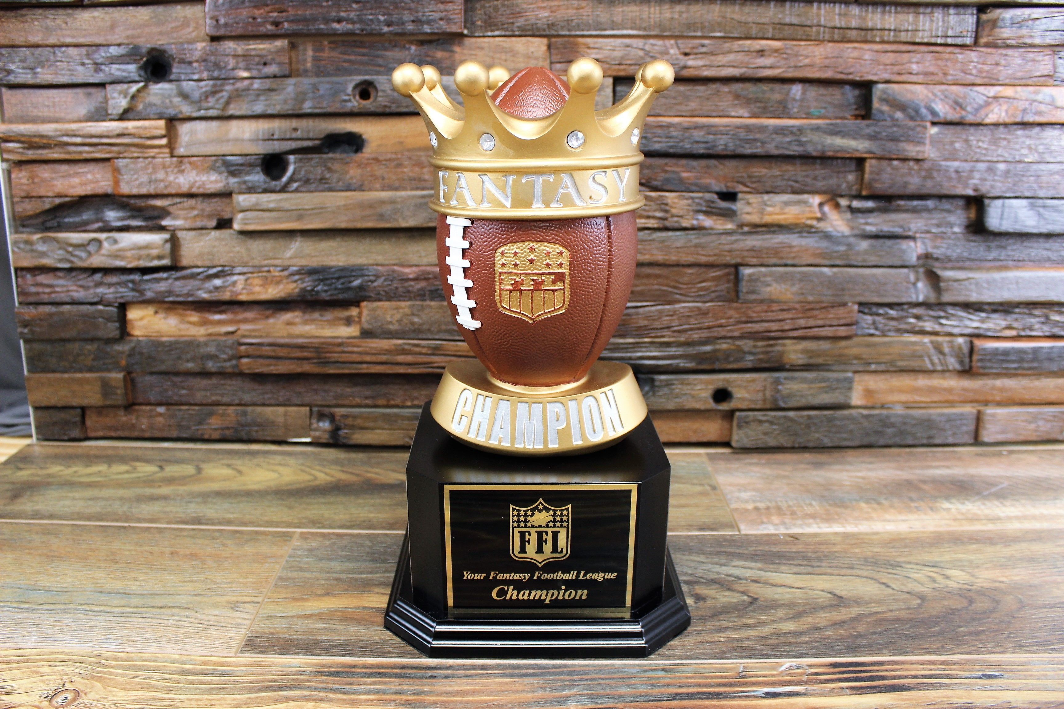 Fantasy Football Gold Crown Champion Trophy Fantasy Football Trophy Fantasy Football Gifts Football Trophies
