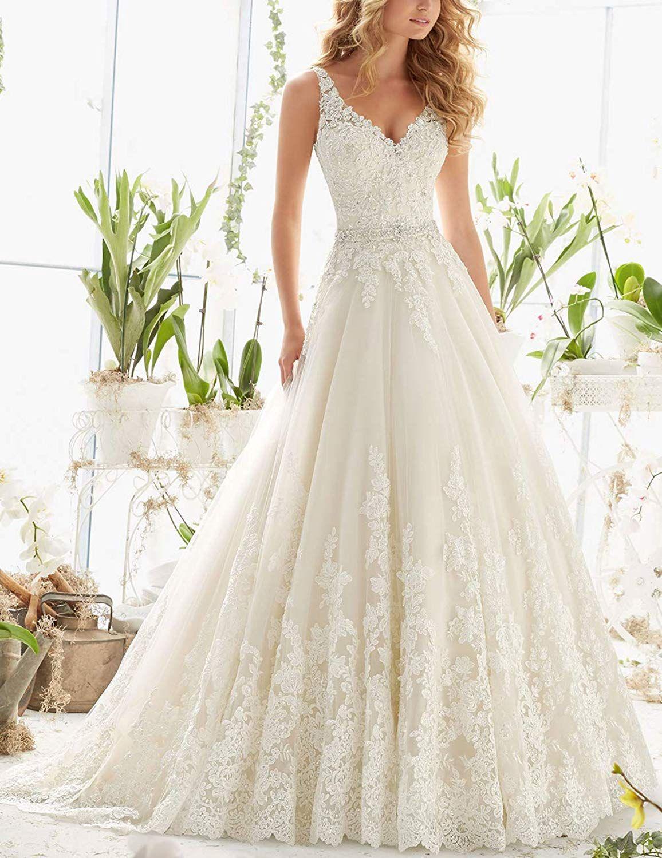 Lilybridal Brautkleider für die Braut aus Schulter Kristall Perle