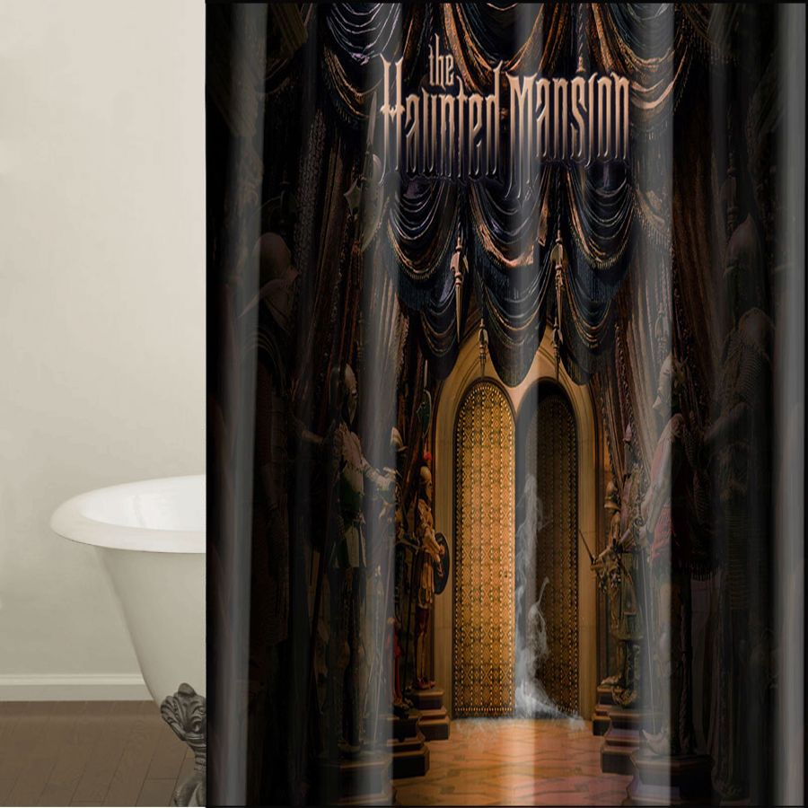Shower Curtain HAUNTED MANSION 66 X 72 12 Holes To Which Rings Attach