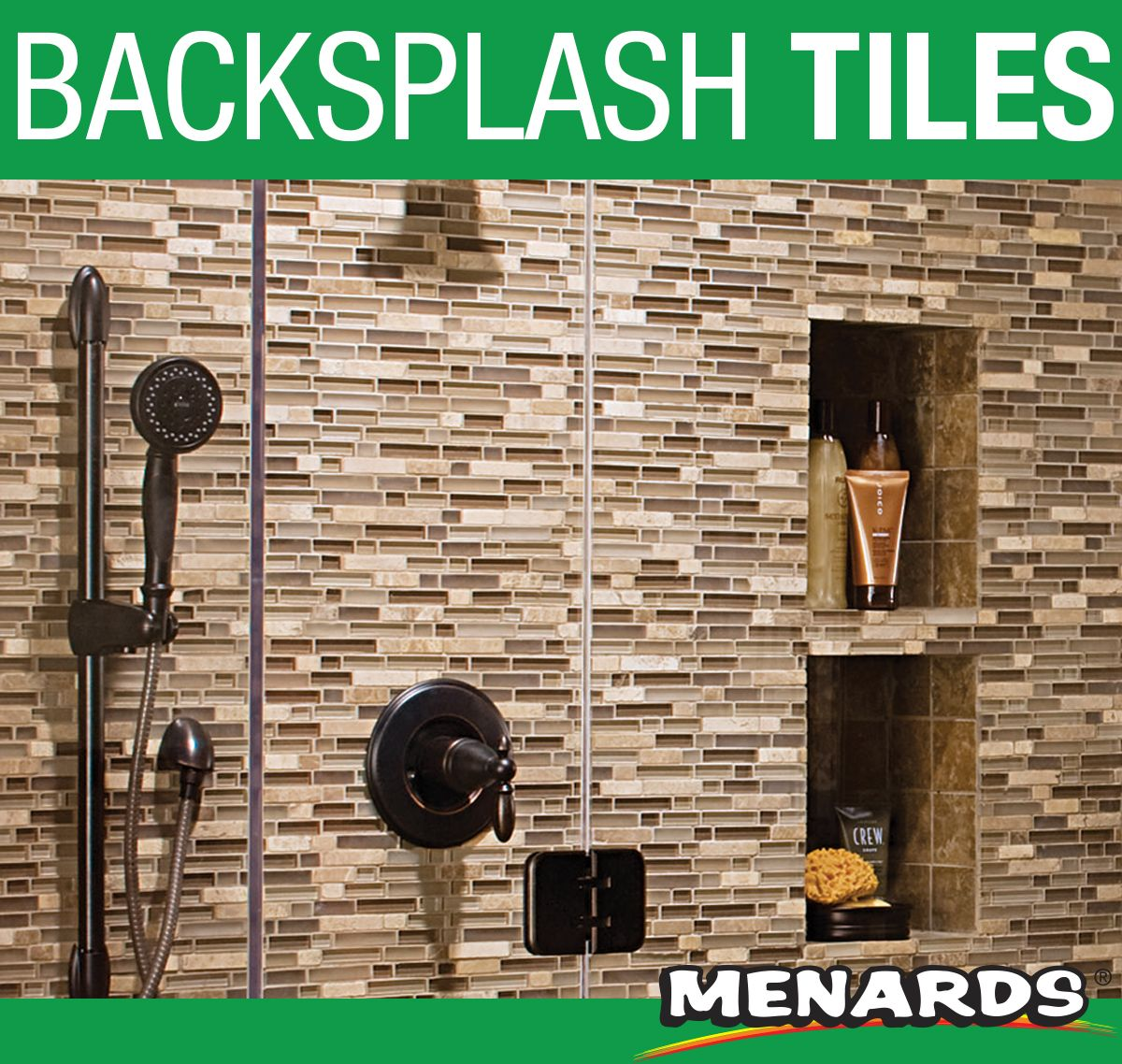 - Mohawk® Almond Spice Glass And Stone Mosaic Wall Tiles Are A