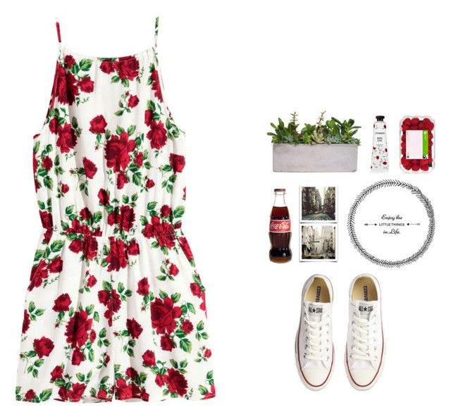 """Whenever Wherever"" by jaxdm ❤ liked on Polyvore featuring H&M, Mamonde and Converse"