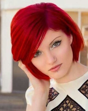 bright red short hairstyles wwwpixsharkcom images