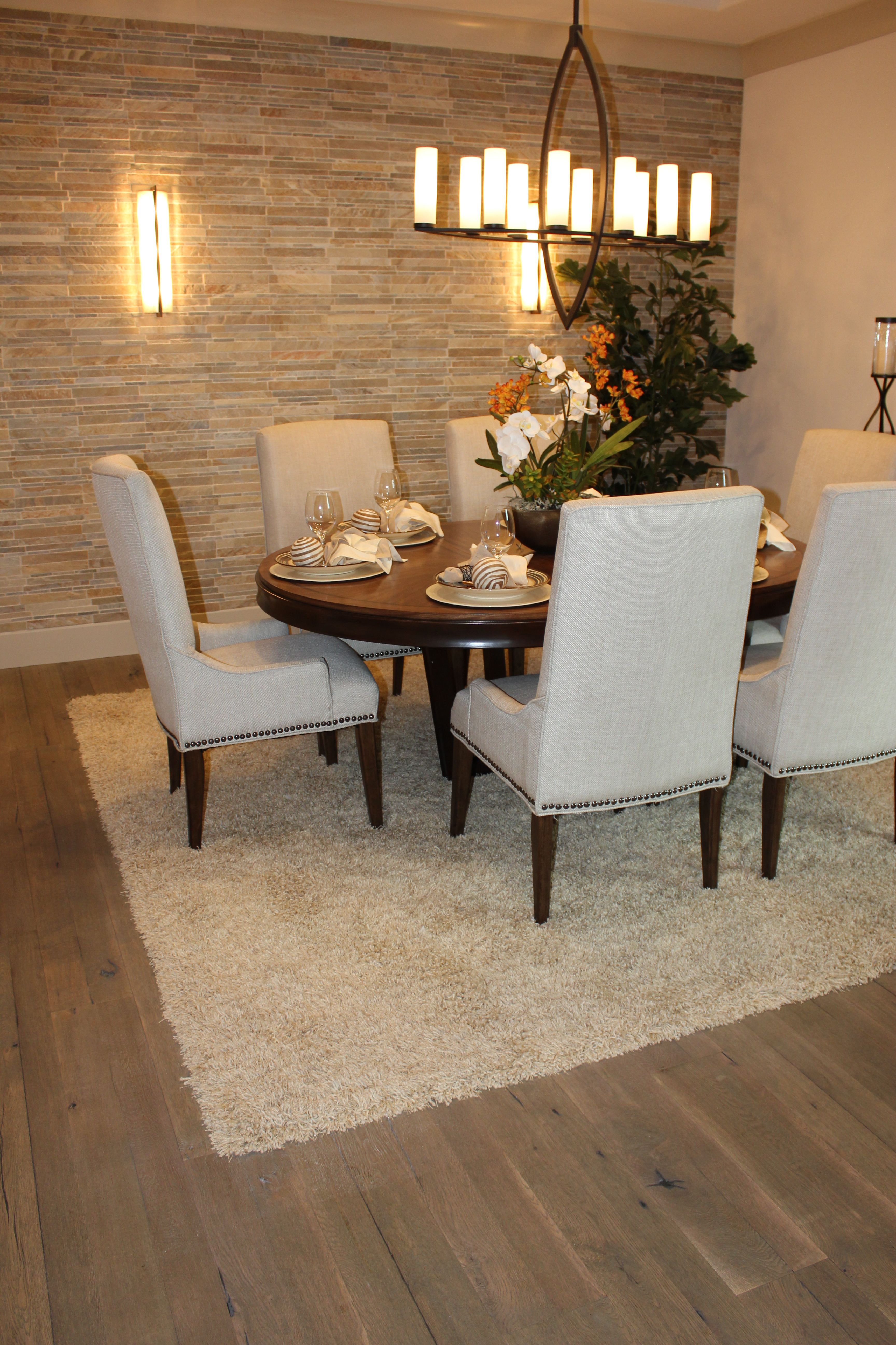 DuChateau Hardwood And Tuftex Area Rug Installed At Tim Lewis Crowne Point  Models By Simas Floor