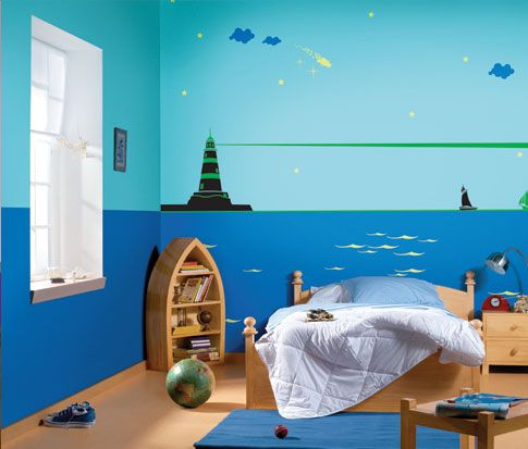 الوان حوائط غرف نوم اطفال Kids Bed Design Room Paint Designs Kids Room Paint