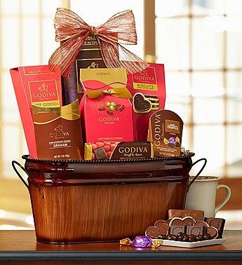 Sending Your Valentine A Godiva Be My Valentine Chocolate Basket
