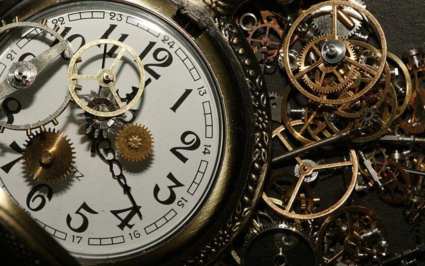 Steampunk Clockwork Gears And Stopwatch Close Up Faces Clock Custom Clocks