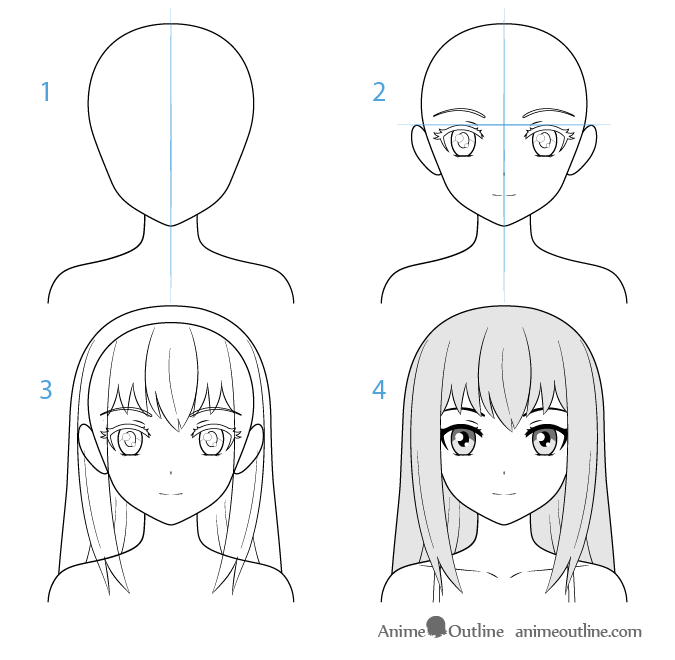 Female Anime Character Face Drawing Step By Step Anime Drawings Tutorials Anime Character Drawing Manga Drawing Tutorials