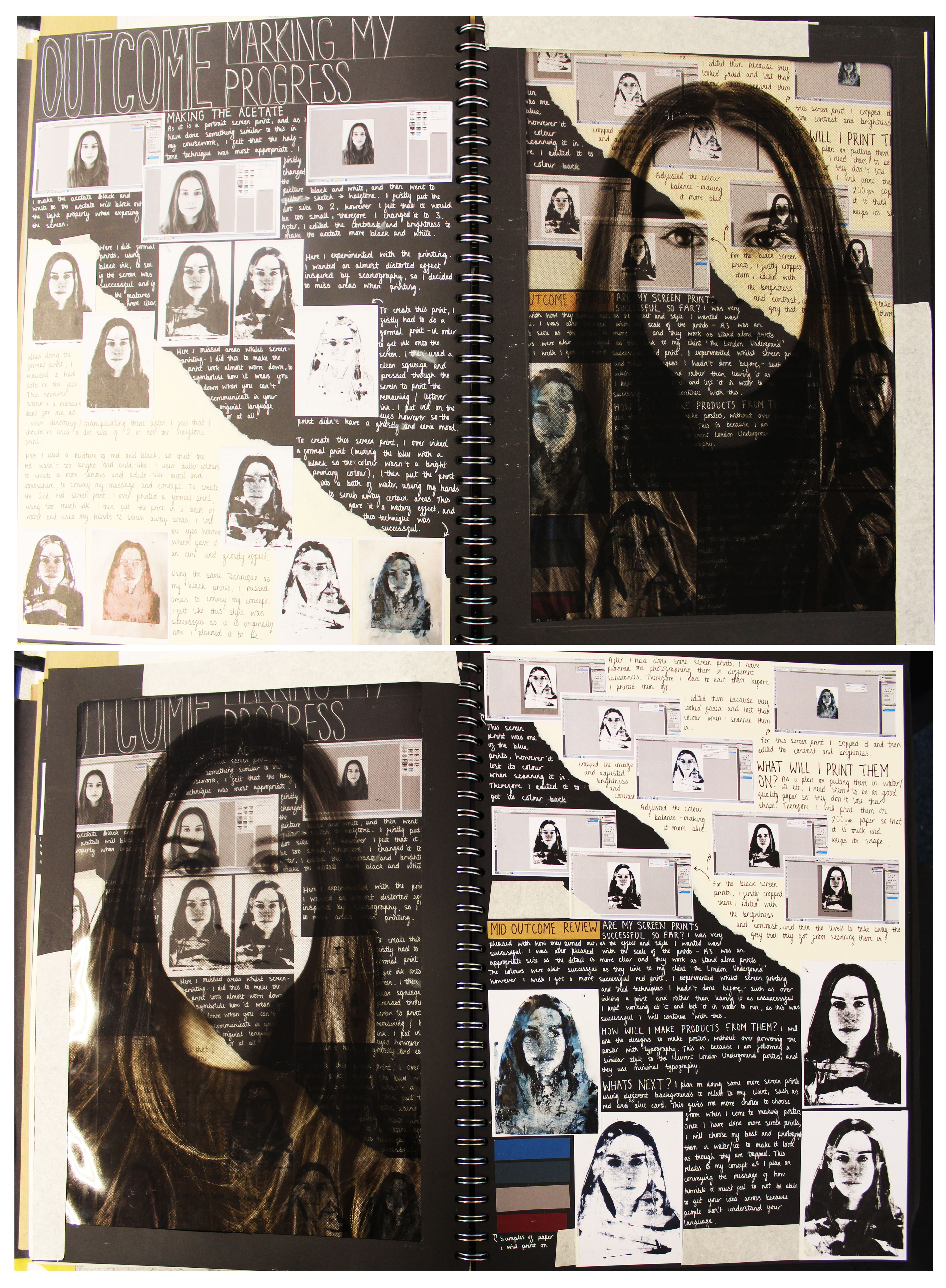 A2 Graphics A3 Black Sketchbook Outcome Progress And Mid Outcome Review Freedom And Or Limitations Thoma Photography Sketchbook Sketch Book Gcse Art Sketchbook