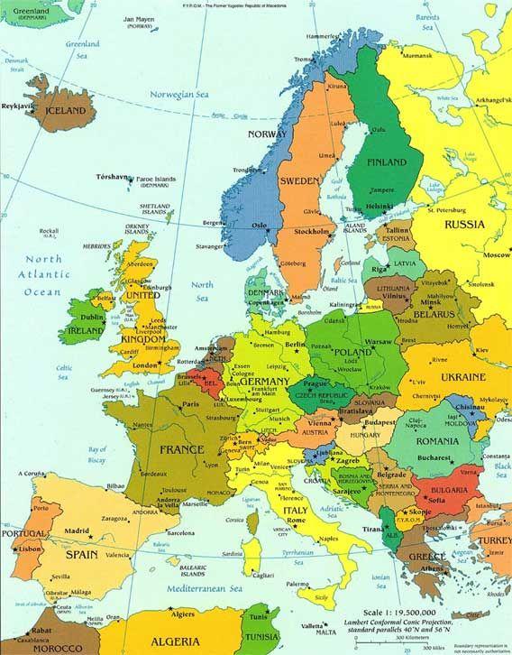 type de carte géographique Afficher l'image d'origine | Carte europe, Géographie et