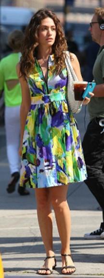 Emmy Rossum: Dress - Kate Spade Kate Spade New York Carissa Dress Nordstrom Kate Spade New York 'carissa' Dress Saks Fifth Ave Carissa Dress