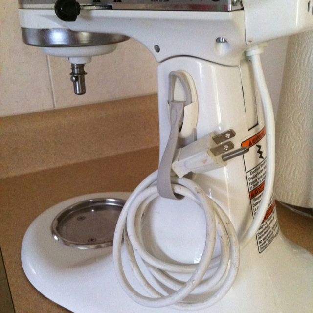 Kitchen Aid Cord Storage, I Store My Mixer On The Counter Unplugged And  Used A