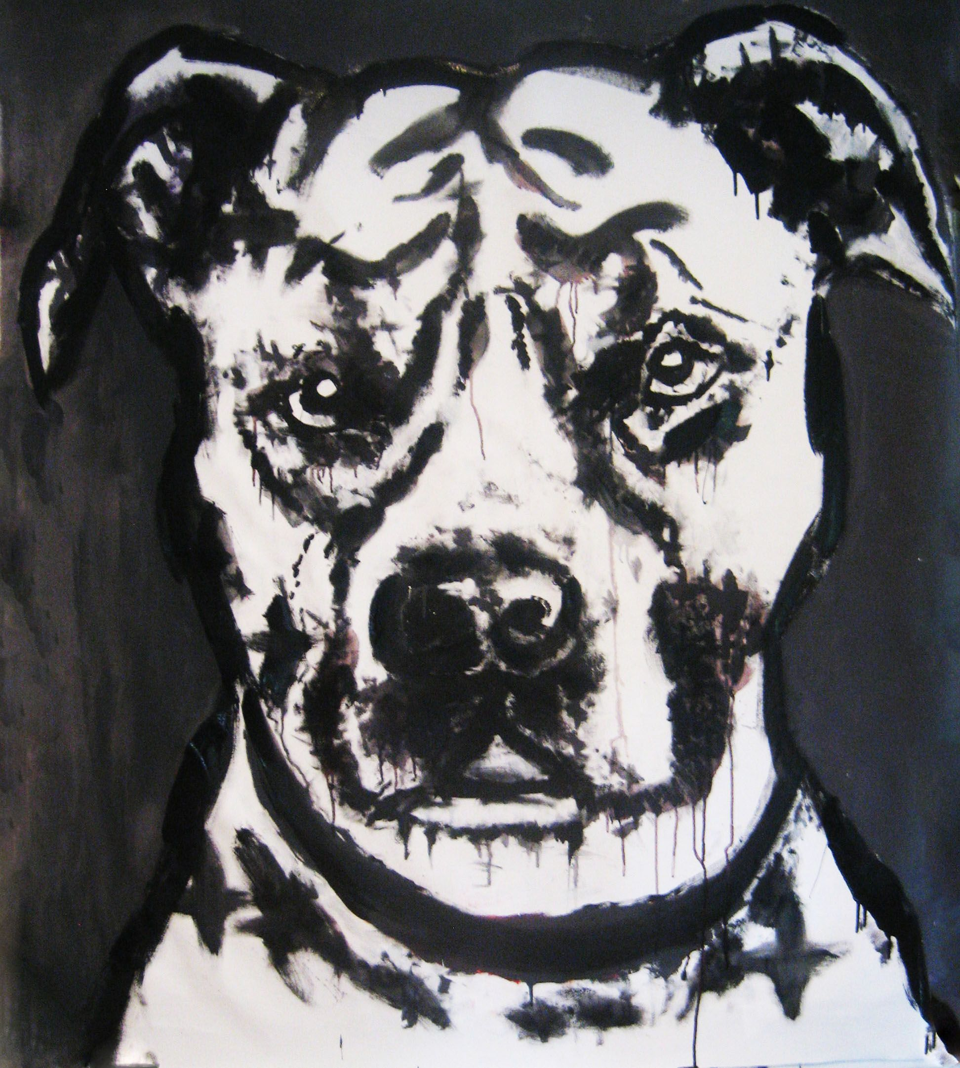 'A Dog's Life' Large painting by Diezel Australian art