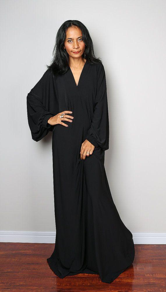 4b29b4175ef9 Black Dress Black Maxi Dress Funky Black Dress: Funky by Nuichan ...