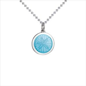 19e0214f8b4 Colby Davis of Boston Pendant: Small Sand Dollar in Light Blue (chain sold  separately