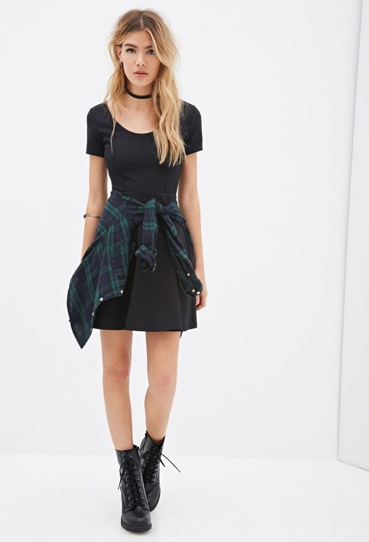 Strukturiertes Kleid in A-Linie - Kleider - 2000100282 - Forever 21 EU