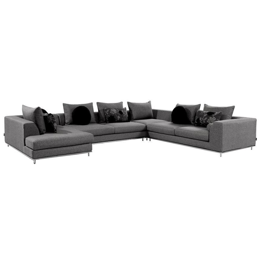 Henna Sectional Sofa W Left Chaise El Dorado Furniture In 2020 Sofa Furniture Modular Sofa Sectional Sofa
