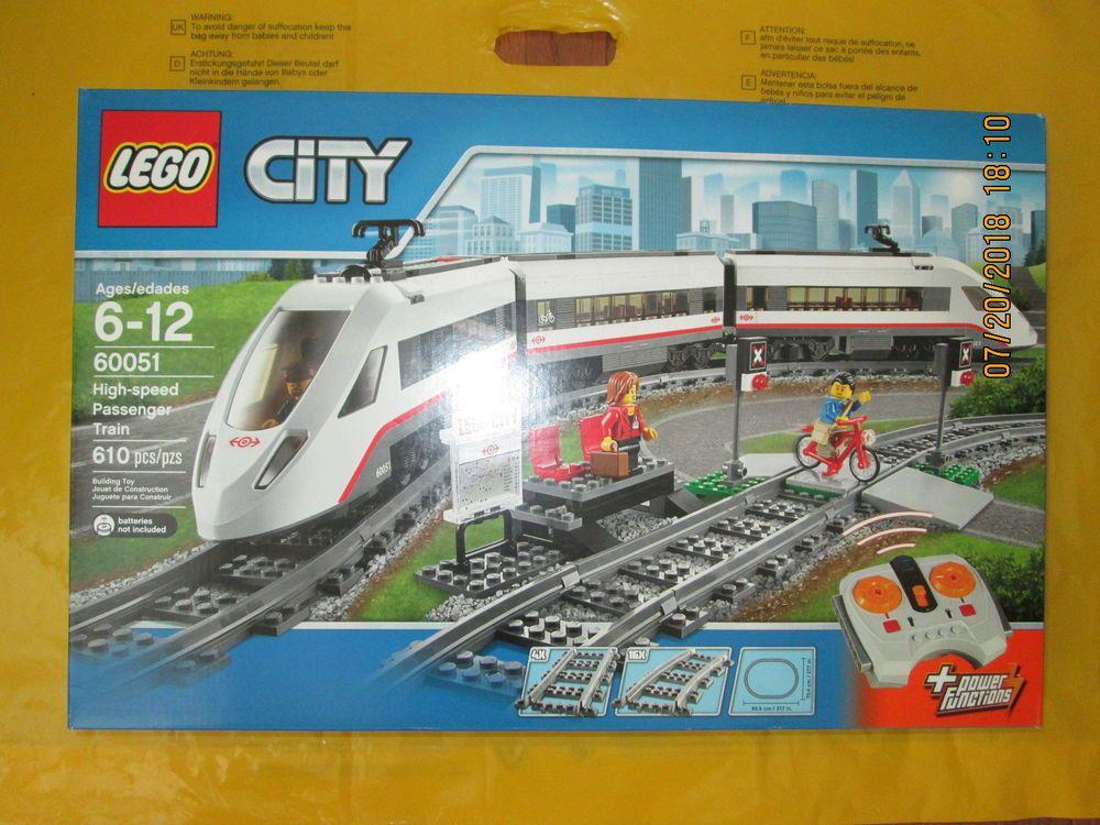 Lego City High Speed Passenger Train 60051 New Sealed Lego City Lego City Train City