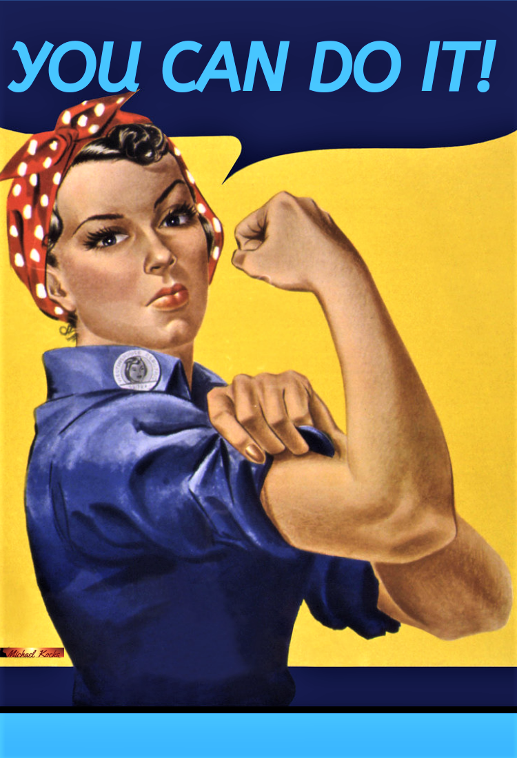You Can Rosie The Riveter Poster Rosie The Riveter Propaganda Posters