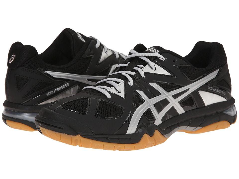 Asics Gel Tactictm Black Silver Women S Volleyball Shoes Modesens Volleyball Shoes Women Volleyball Black Athletic Shoes