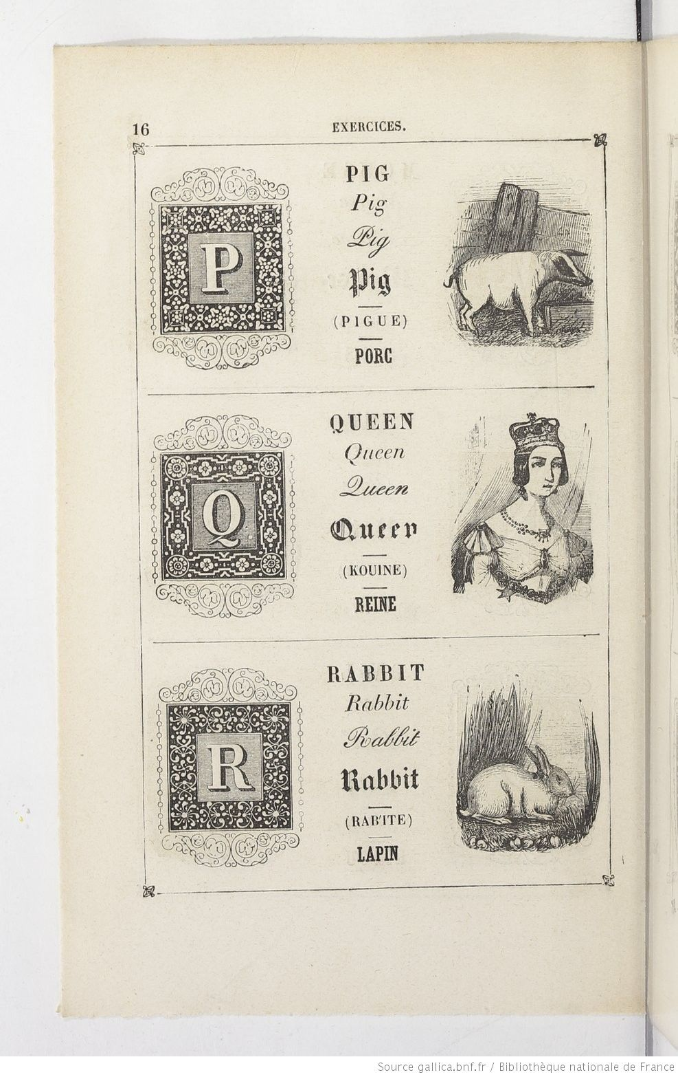 Abécédaire anglais et français, syllabaire complet ou premier livre de lecture destiné aux enfants qui apprennent à prononcer, à lire et à traduire l'anglais... par M. E. T. Troisième édition... | 1864