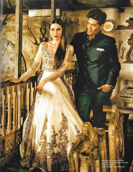 Manish Malhotra and Karishma Kapoor lengha 2014