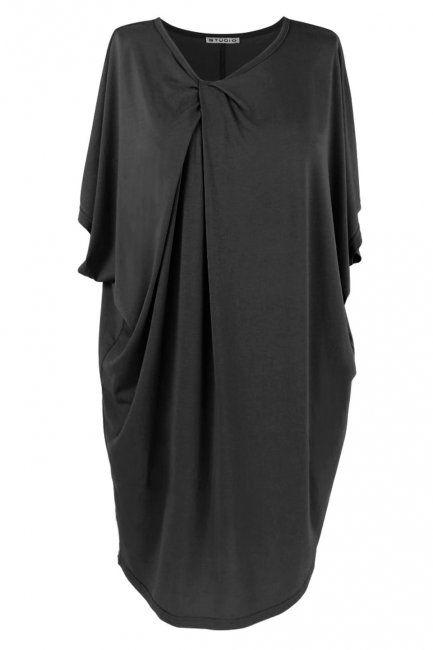 Sort oversize jersey tunika/kjole - studio :