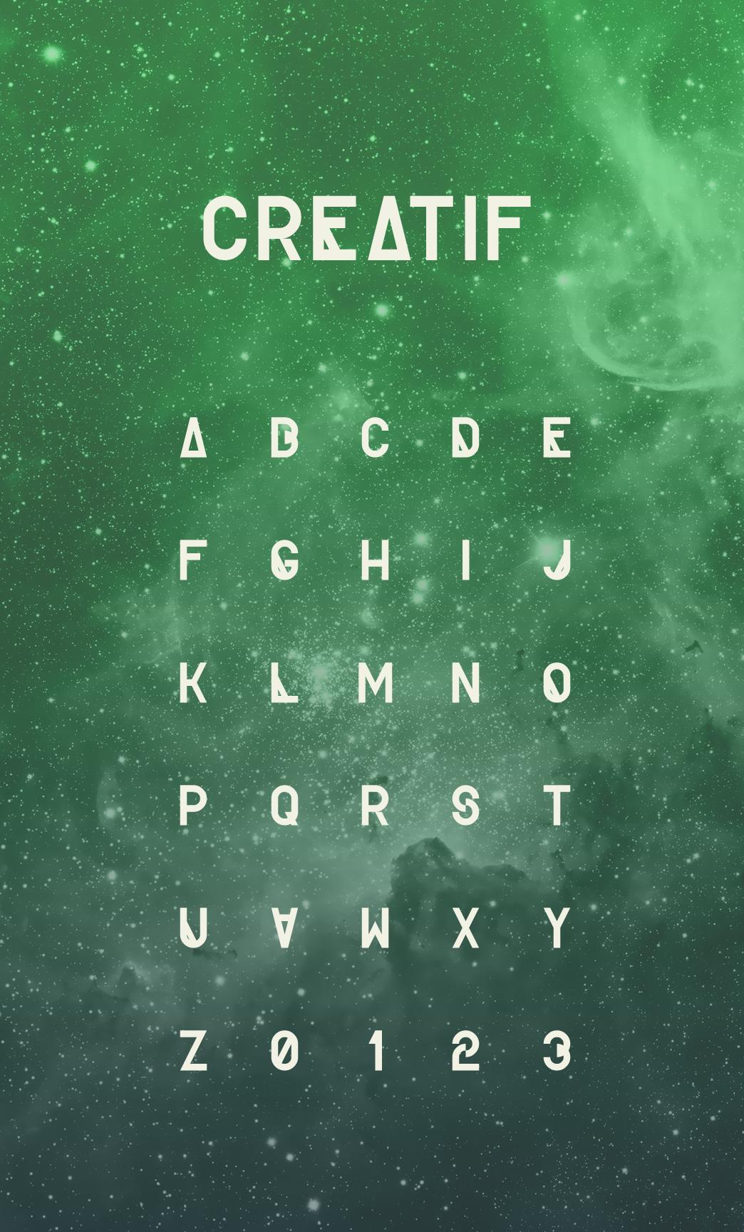 Creatif Regular Free typography fonts, Aesthetic fonts