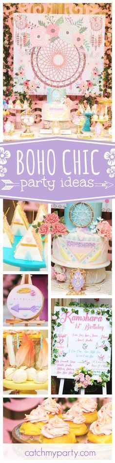 "Boho Chic / Birthday ""Boho Chic 1st Birthday party"" – decor ideas  #1st #Birthda… – BohoChic Fest"