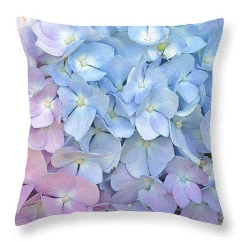 Multicolored Hydrangea Throw Pillow For Sale By Kay Novy Throw Extraordinary Hydrangea Decorative Pillows