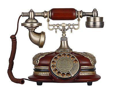 Luxury Classic Rotary Phone Antique Telephone Retro Vintage Home Desk  Telephone | eBay - Luxury Classic Rotary Phone Antique Telephone-Retro Vintage Home