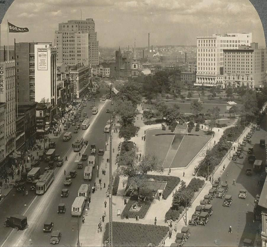Military Park And The Broad Street Commercial District In