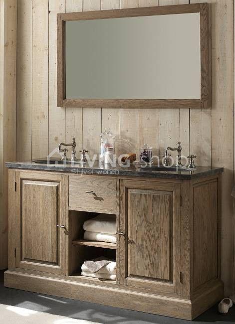 Eiken badkamermeubel landelijk bij LIVINGshop stijlvol wonen webshop ...