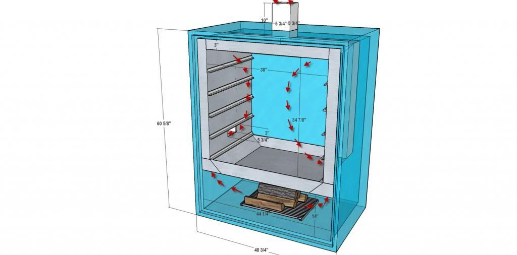 Reverse Flow Cabinet Smoker Plans | Mail Cabinet