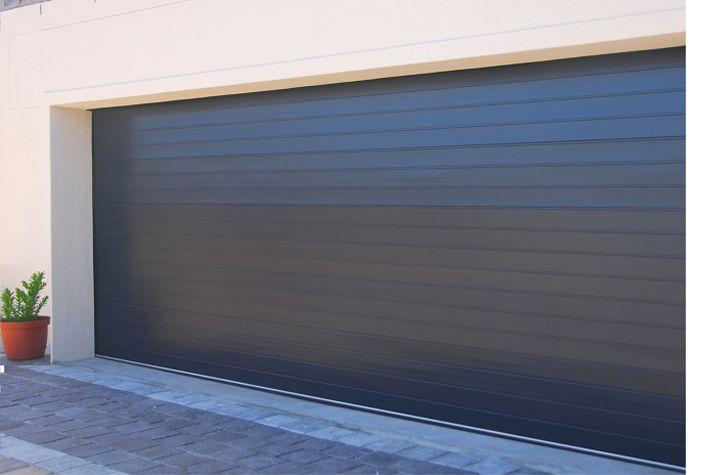 DOUBLE, ALUMINIUM SECTIONAL OVERHEAD GARAGE DOOR – CHARCOAL ...