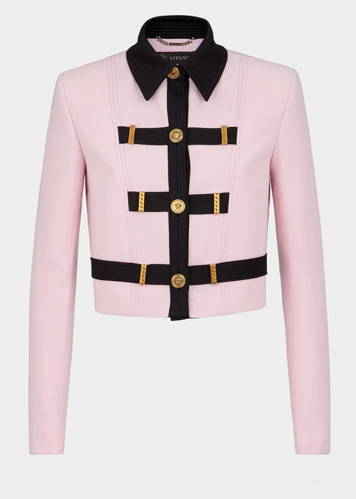 fc8845e2c Medusa Button Cropped Jacket for Women   US Online Store in 2019 ...