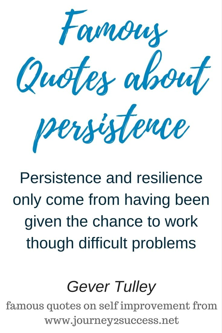 Quotes About Self Improvement 15 Persistence Quotes  Famous Self Improvement Quotes About