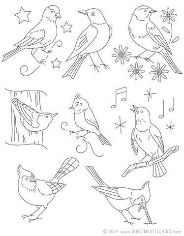 Small Pack Embroidery Patterns Song Birds Pinterest Bird