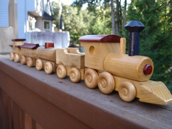 Wood Train Set for hobby