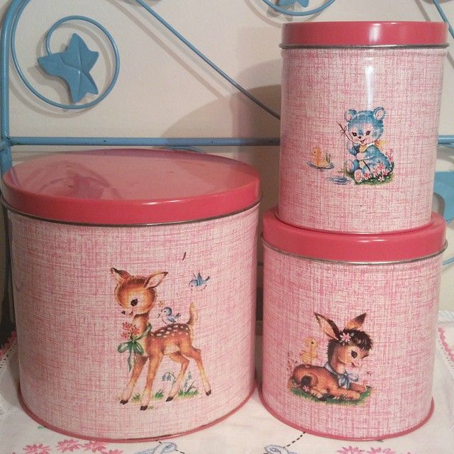 So cute! Fabfindsanddesign IG - she is so talented! Such cute vintage canisters