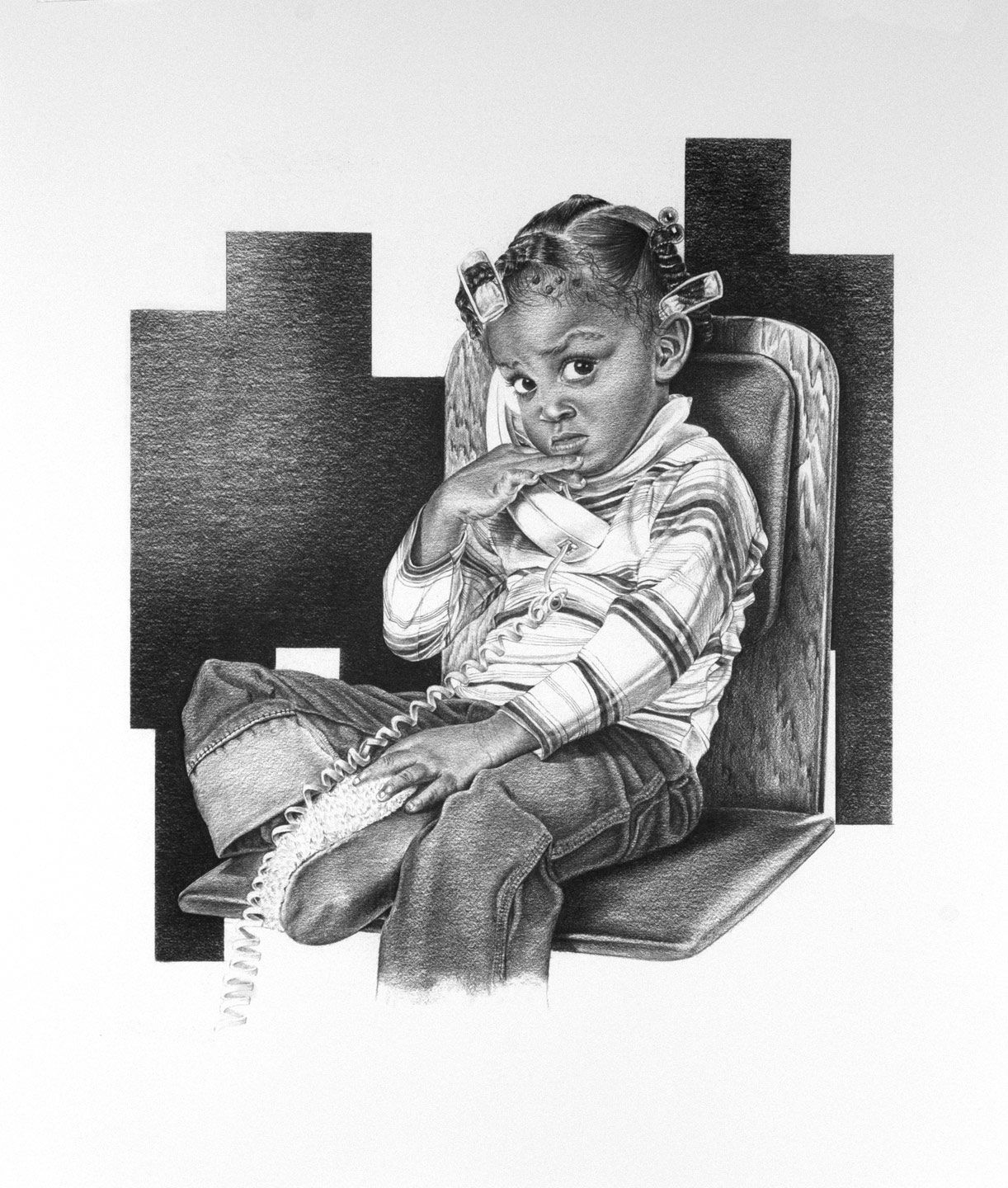 Just got caught pencil drawing by master pencil artist john nelson famous black artists